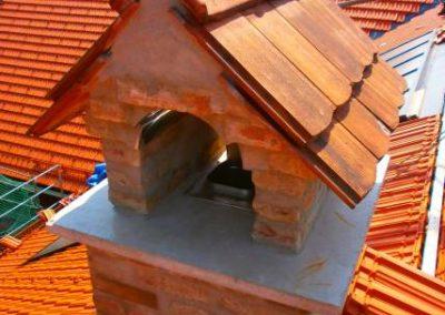 Gemauertes Kaminhaus mit alten Mauersteinen